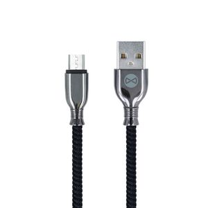 Forever Tornado micro-USB lataus- ja synkronointikaapeli 1m 3A, musta