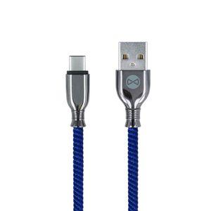 Forever Tornado USB-C lataus- ja synkronointikaapeli 1m 3A, tummansininen