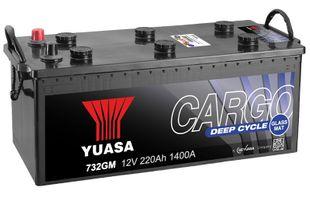 Yuasa 732GM 12V 220Ah 1400CCA Cargo Deep Cycle Glass Mat Käynnistusakku