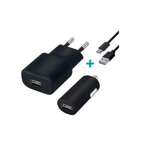 Forever USB Laturisetti 2A + Lightning kaapeli, musta