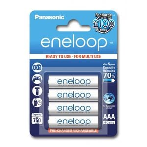 Panasonic Eneloop R03/AAA Akkuparisto 750mAh - 4 kpl