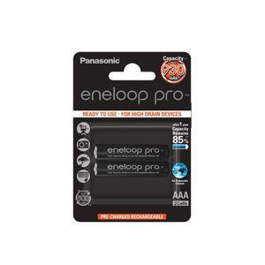 Panasonic Eneloop Pro R03/AAA Akkuparisto 930mAh - 2kpl, musta