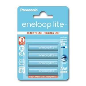 Panasonic Eneloop Lite R03/AAA Akkuparisto 550mAh - 4 kpl
