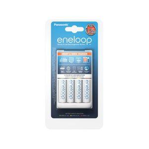 Panasonic BQ-CC55 Laturi + R6 / AA Eneloop 1900mAh Paristo x 4