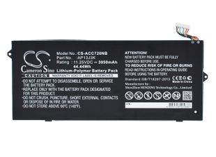 "Acer Chromebook 11.6"", Chromebook C720, Chromebook C720-2103 akku 3950 mAh"
