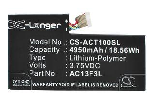 Acer A1-A810, Iconia Tab A1, Iconia Tab A1-810 Tabletin Akku
