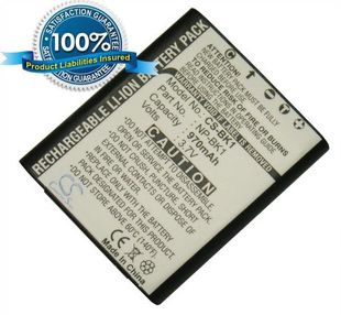 Sony NP-BK1, NP-FK1 yhteensopiva akku 970 mAh
