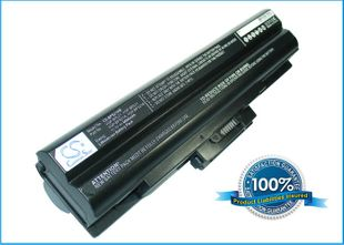 Sony VAIO VGP-BPL21 ja VGP-BPS21 akku 6600 mAh - Musta