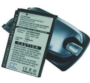 Blackberry 8700f, 8700g, 8705g, 8707g tehoakku erillisellä takakannella 1900 mAh