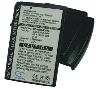 Blackberry 8800, 8800c, 8800r, 8820, 8830, 8830B tehoakku erillisellä takakannella 1900 mAh