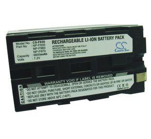Sony NP-F960, NP-F930, NP-F970, NP-F970/B, NP-F930/B, NP-F950, NP-F950/B  yhteensopiva akku 6600 mAh