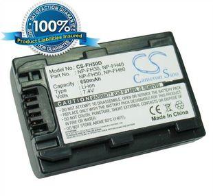 Sony NP-FH30, NP-FH40, NP-FH50, NP-FH60 yhteensopiva akku 650 mAh