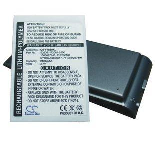 Fujitsu Loox T800, Loox T810, Loox T830 tehoakku erillisellä takakannella 2400 mAh