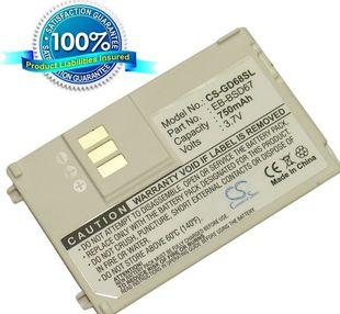 Panasonic GD67, GD68 akku 750 mAh