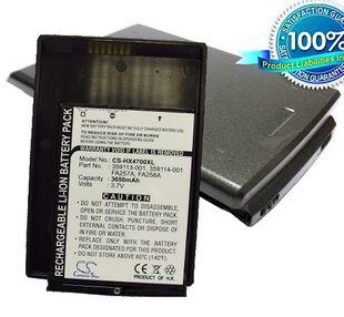 iPAQ HX4700, iPAQ HX4715, iPAQ HX4705, iPAQ HX4800 tehoakku erillisellä takakannella 3650 mAh