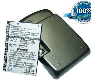 Mio A500, Mio A501, Mio A502 tehoakku erillisellä takakannella 2400 mAh
