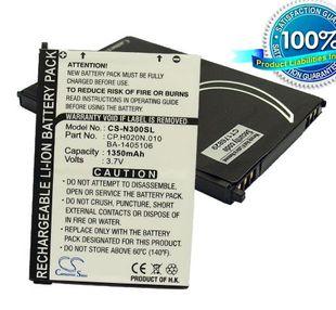 Acer N300, N310, N311, N320, N321, N500, C500, C510, C511, C530, C531, Ferrari Navigator akku 1350 mAh