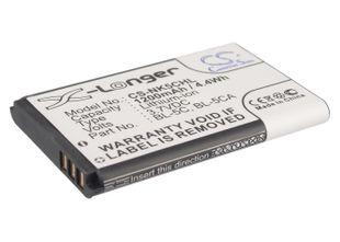 Nokia BL-5C, BL-5CA, BL-5CB, BR-5C yhteensopiva akku 1200 mAh