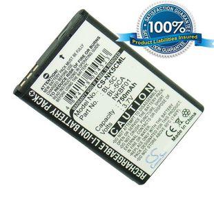 Nokia BL-5C, BL-5CA yhteensopiva akku 750 mAh