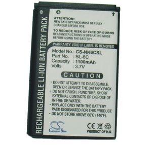 Nokia BL-6C yhteensopiva akku 1100 mAh