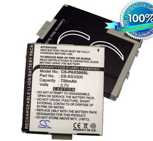Panasonic EB-A200, EB-X100, EB-X500 akku 720 mAh