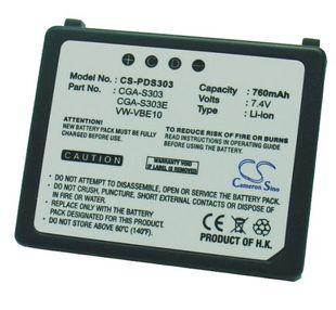 Panasonic CGA-S303, CGA-S303E, CGA-S303E/1B, VW-VBE10, VW-VBE10E yhteensopiva akku 760 mAh
