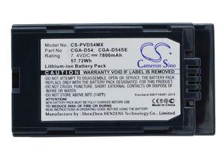 Panasonic CGA-D54, CGA-D54S, CGA-D54SE akku 7800 mAh