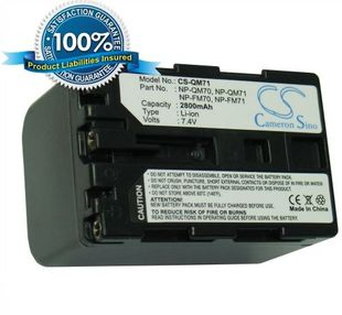 Sony NP-QM71, NP-QM70, NP-FM70, NP-FM71 yhteensopiva akku 2800 mAh