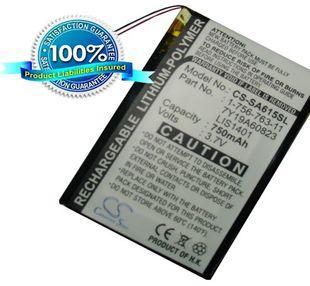Sony NWZ-S600, NWZ-S610, NWZ-S615, NWZ-S616, NWZ-S618, NW-S710, NWZ-S738, NWZ-S716 akku 750 mAh
