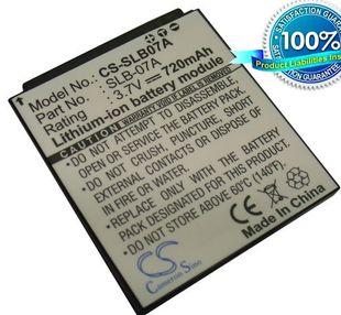 Samsung SLB-07A yhteensopiva akku 720 mAh
