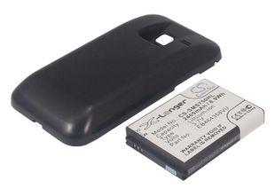 Samsung GT-S7500, Galaxy Ace Plus  tehoakku erillisellä laajennetulla mustalla takakannella 2400 mAh