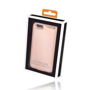 Forever Battery Case iPhone 6 / 6S Suojakotelo akulla (3000mAh) ja microSD-korttipaikalla - Ruusukulta
