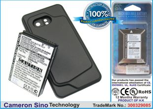 HTC Incredible, Incredible PB31200, Droid Incredible   Extended With Black Cover Color Back Cover yhteensopiva akku - 2200 mAh