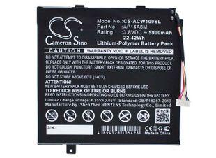 Acer Aspire Switch 10 yhteensopiva akku 5900 mAh