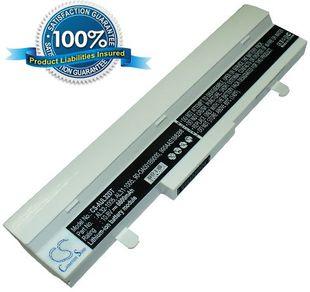 Asus Eee PC 1005HA  1005PE  1005PE 1001HA  1101HA  R101 R105 R1001 R1005 akku 6600 mAh valkoinen