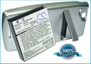 SonyEricsson BA750, Xperia Arc, LT15a, LT15i yhteensopiva akku laajennetulla takakannella 2500 mAh - Musta