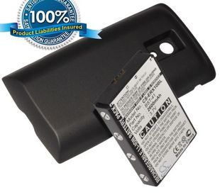 Sony Ericsson Xperia X10, Xperia X10a, Xperia X10i tehoakku laajennetulla takakannella 2600 mAh - Musta