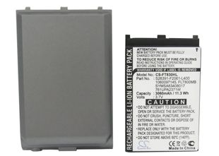 Fujitsu Loox T800, Loox T810, Loox T830 tehoakku erillisellä takakannella 3060 mAh