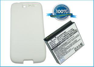 HTC Desire tehoakku erillisellä takakannella 2400 mAh - Valkoinen