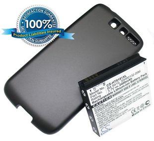 HTC Desire tehoakku erillisellä takakannella 2400 mAh - Musta