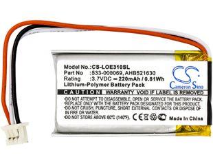 Logitech G Pro Wireless, G304, G502 akku 220mAh / 0.81Wh