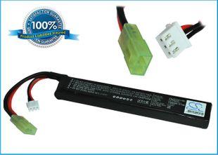 RC / airsoft akku, 1100 Li-PL , 7,4 V