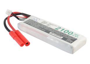 Li-Po akku, 2100mAh, 7,4V, Gold Plug