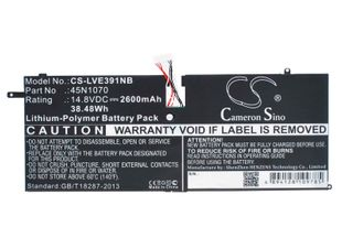 "Lenovo ThinkPad X1 Carbon 3444, ThinkPad X1 Carbon 3444 14"", ThinkPad X1 Carbon 3448 akku 2600 mAh"