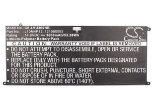 Lenovo IdeaPad Yoga 13, U300 akku 3600 mAh - Musta