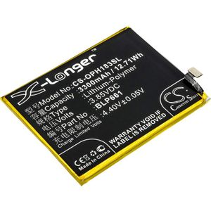 OPPO A3, A3 Dual SIM, A3 Dual SIM TD-LTE akku 3300mAh