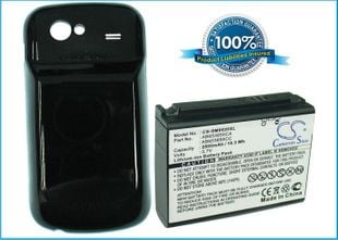 Samsung GT-I9020, GT-I9020T, Nexus S, Nexus S 4G yhteensopiva akku 2800 mAh laajennetulla takakannella