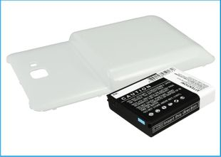 Samsung Galaxy Note AT&T yhteensopiva tehoakku valkoisella laajennetulla takakannella 4500 mAh
