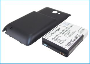 Samsung Galaxy Note yhteensopiva tehoakku tumman sinisellä laajennetulla takakannella 4500 mAh