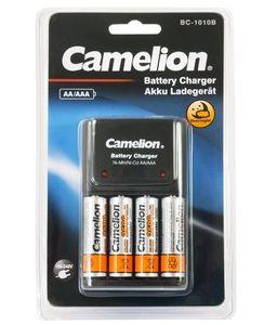 Camelion BC-1010B plug-in akkulaturi Ni-MH ja NI-Cd AA/AAA akuille + 4kpl Camelion Ni-MH 2500mAh (AA) uudelleenladattavaa akkua
